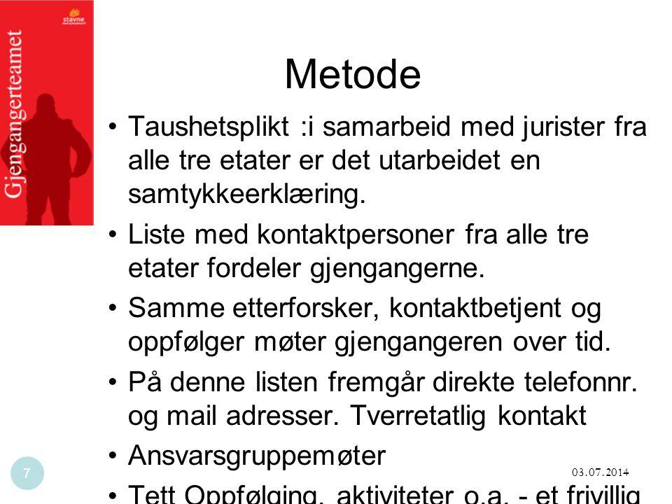 Metode Taushetsplikt :i samarbeid med jurister fra alle tre etater er det utarbeidet en samtykkeerklæring.