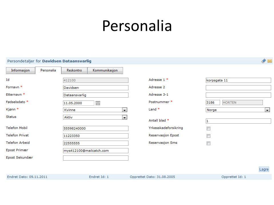 Personalia