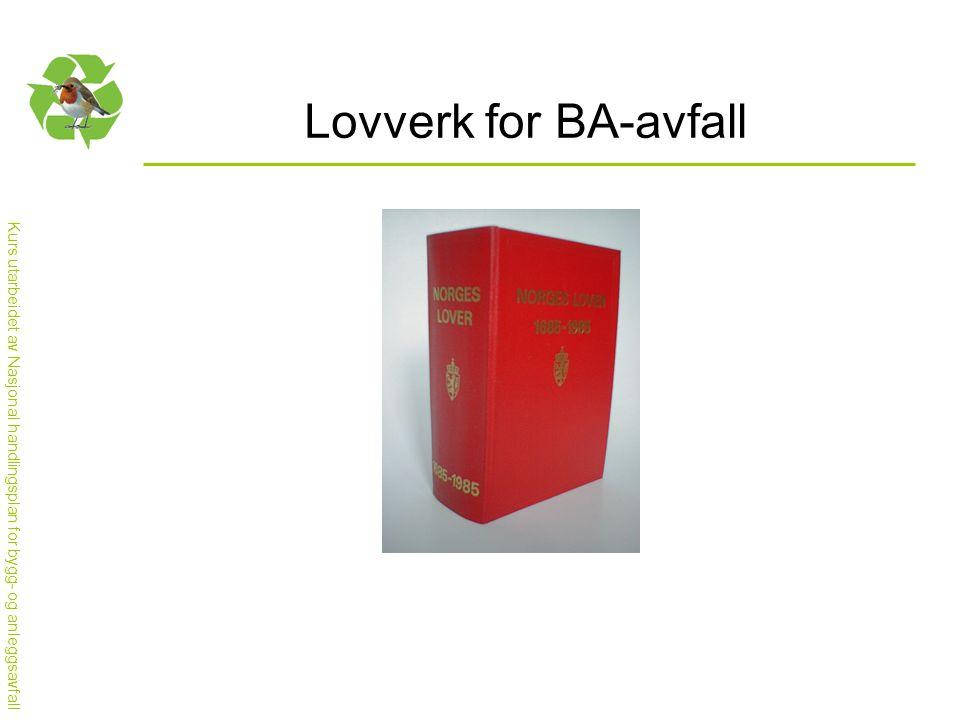 Lovverk for BA-avfall