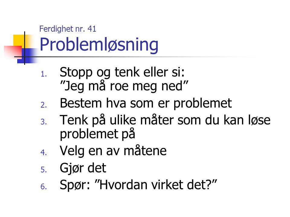 Ferdighet nr. 41 Problemløsning
