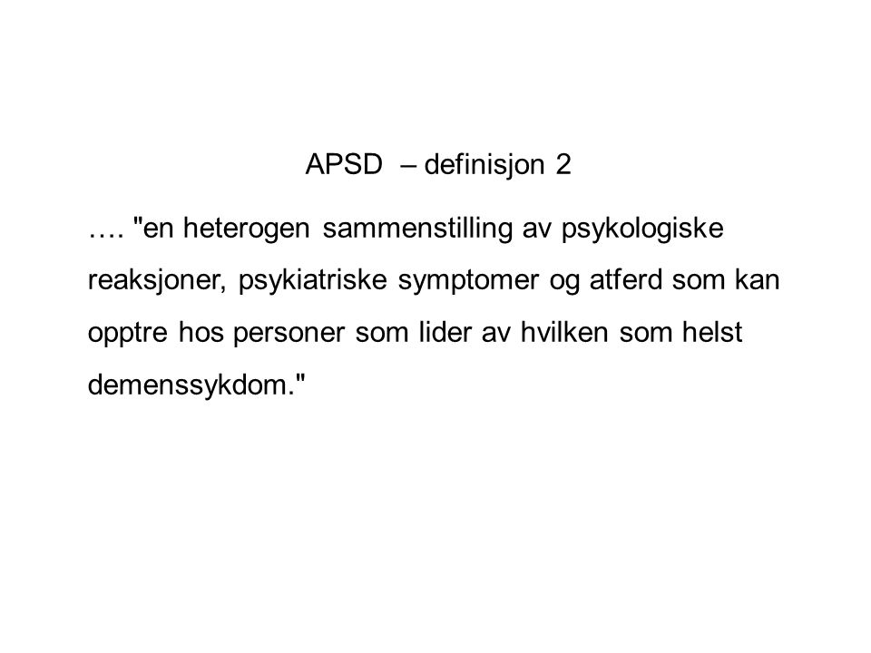 APSD – definisjon 2
