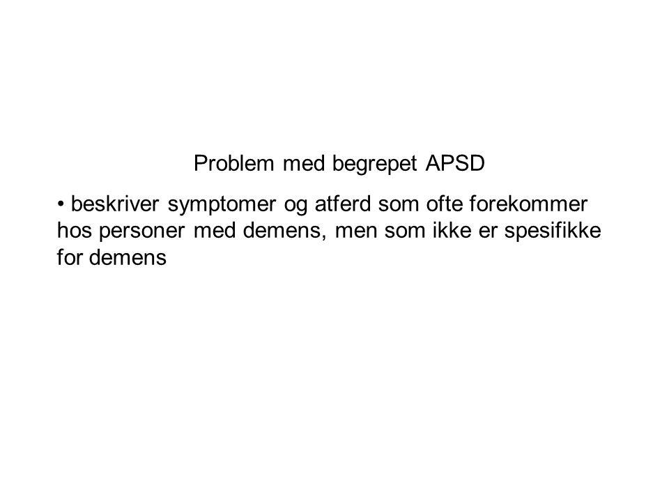 Problem med begrepet APSD