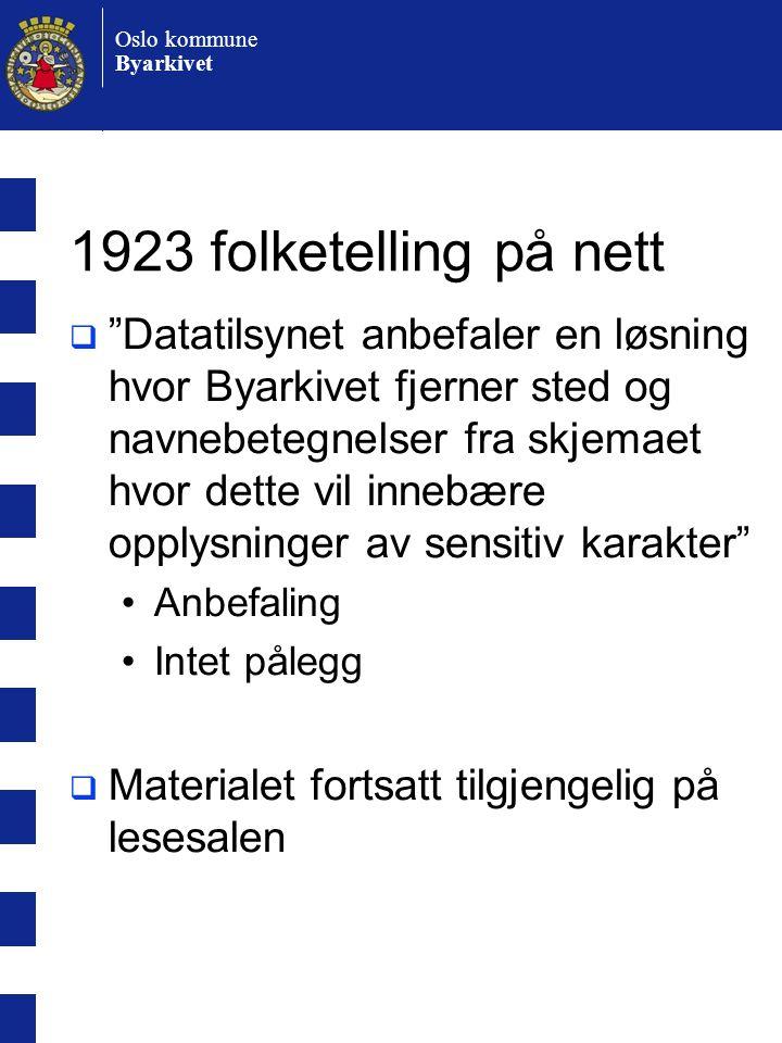 1923 folketelling på nett