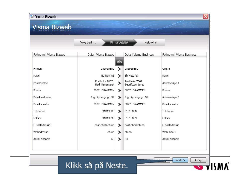 Klikk så på Neste.