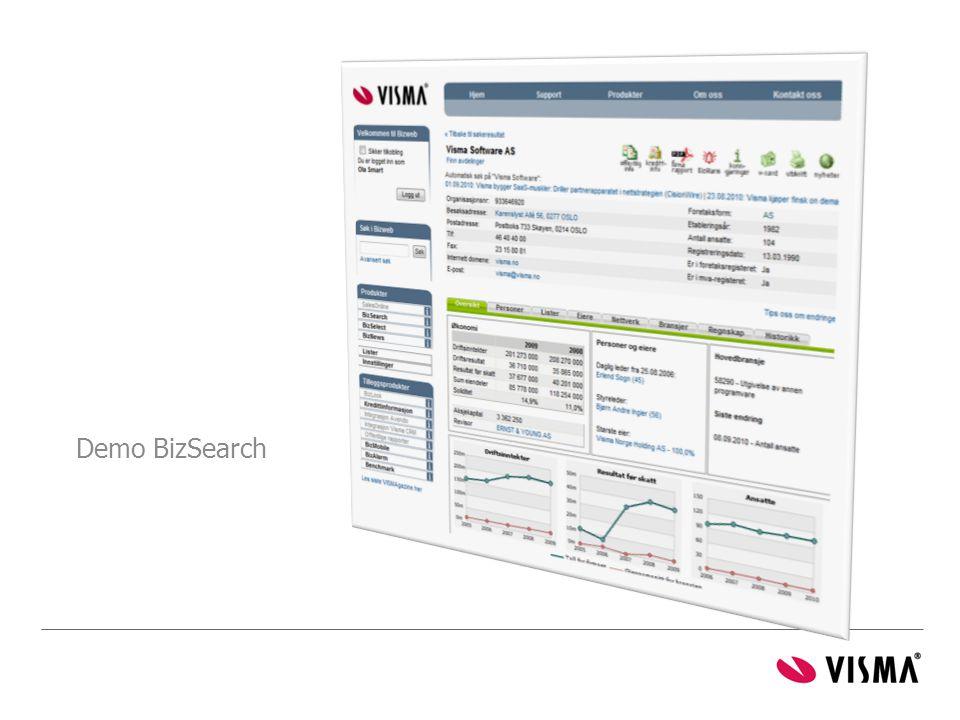 Demo BizSearch BizSearch:
