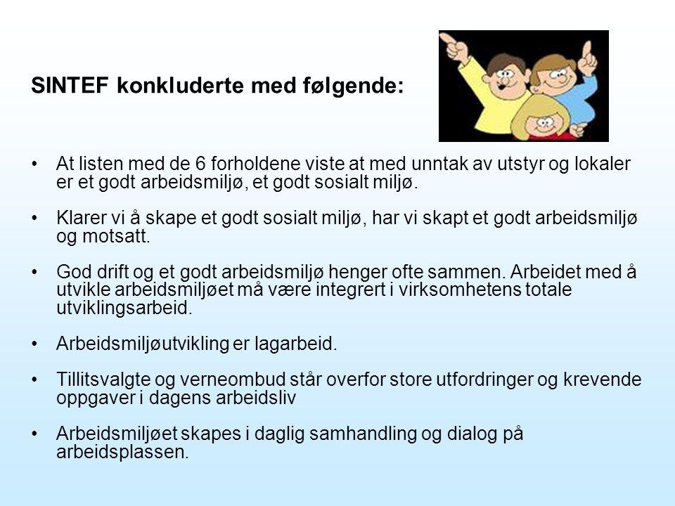 SINTEF konkluderte med følgende: