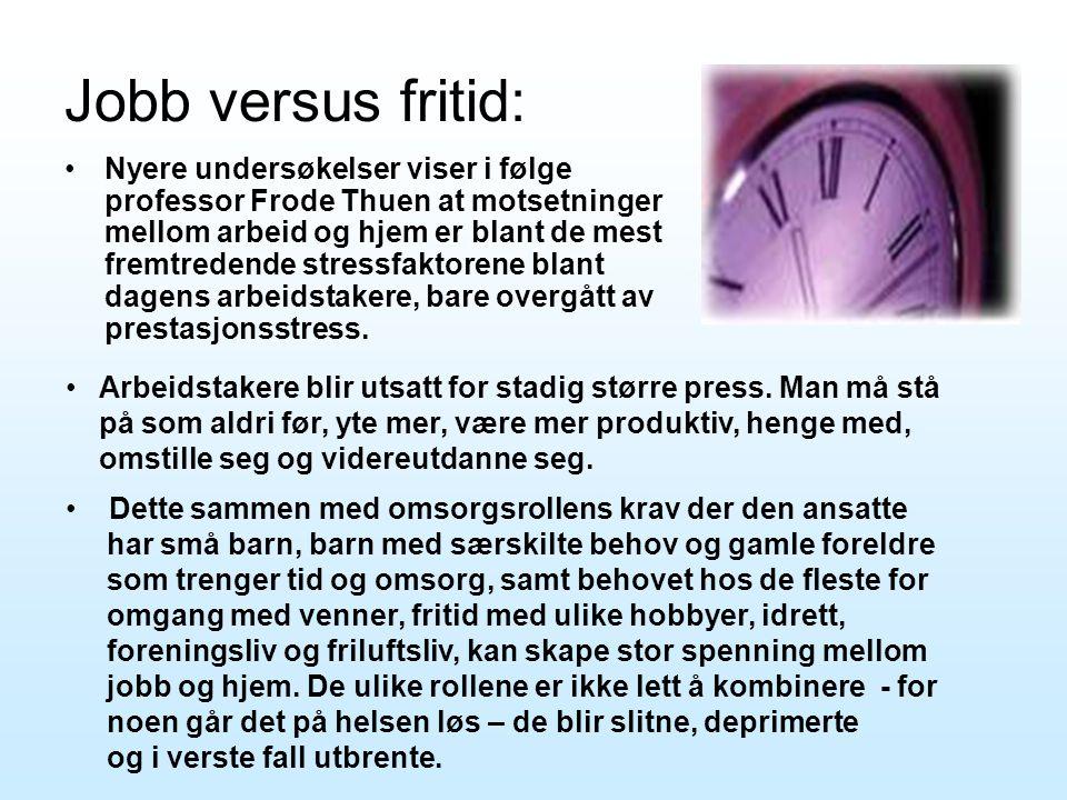Jobb versus fritid: