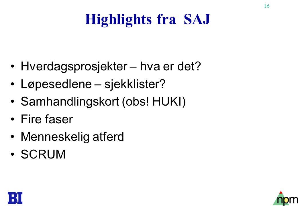 Highlights fra SAJ Hverdagsprosjekter – hva er det