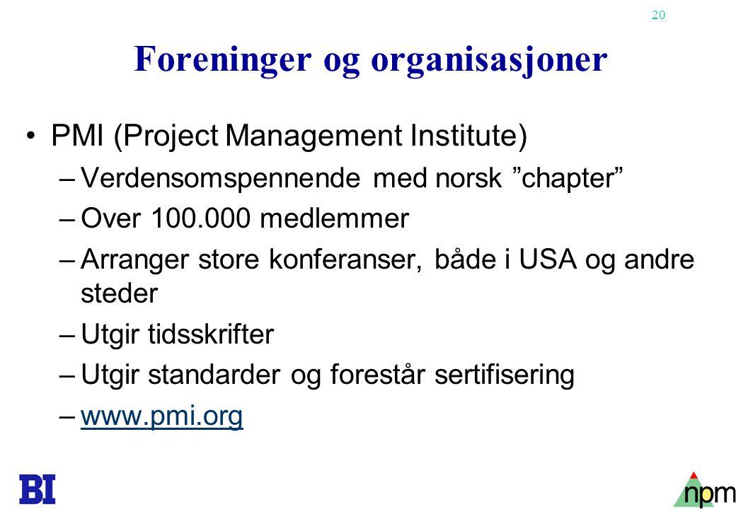 Foreninger og organisasjoner