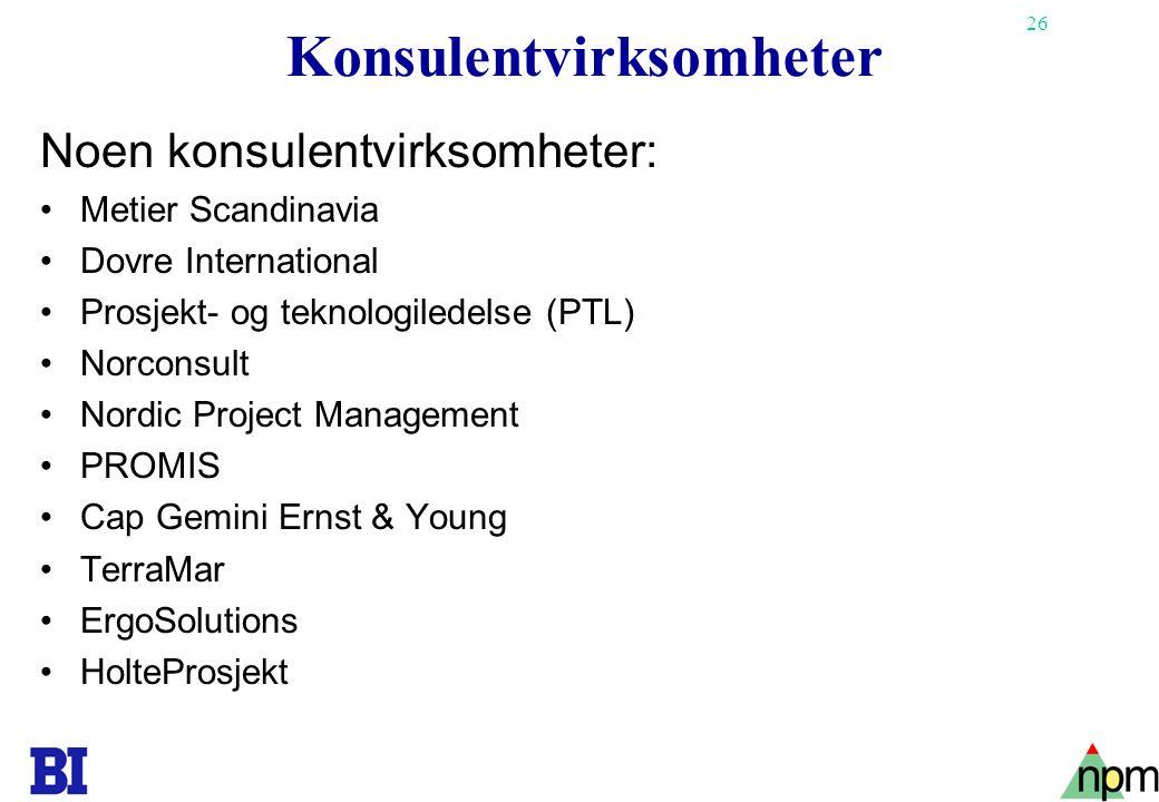 Konsulentvirksomheter