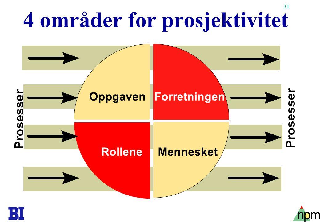 4 områder for prosjektivitet