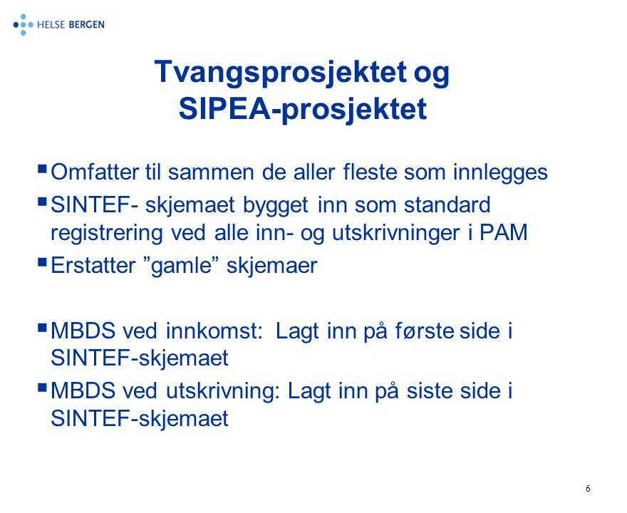 Tvangsprosjektet og SIPEA-prosjektet