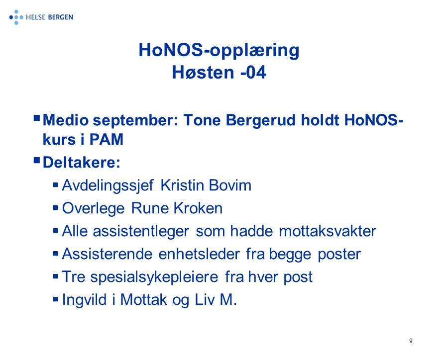 HoNOS-opplæring Høsten -04