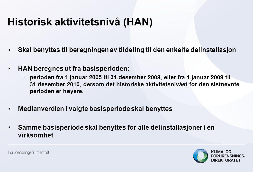 Historisk aktivitetsnivå (HAN)