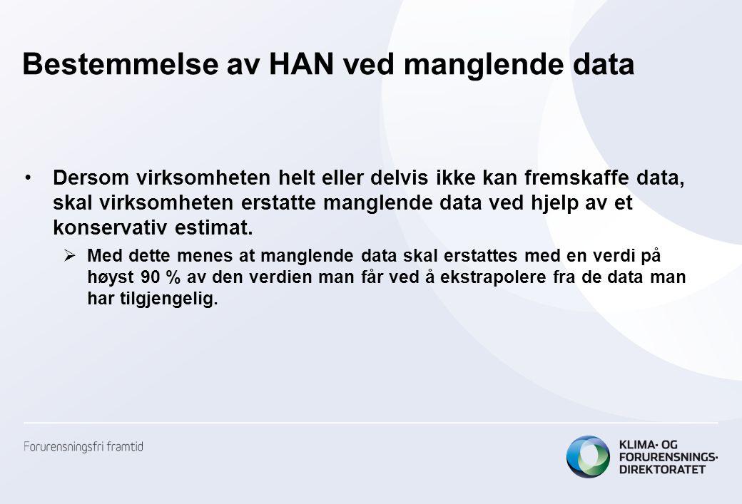 Bestemmelse av HAN ved manglende data