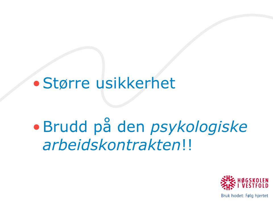 Brudd på den psykologiske arbeidskontrakten!!