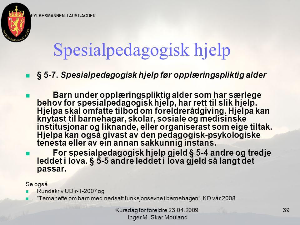 Spesialpedagogisk hjelp