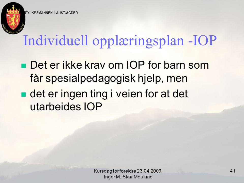 Individuell opplæringsplan -IOP