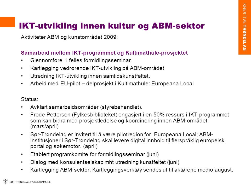 IKT-utvikling innen kultur og ABM-sektor