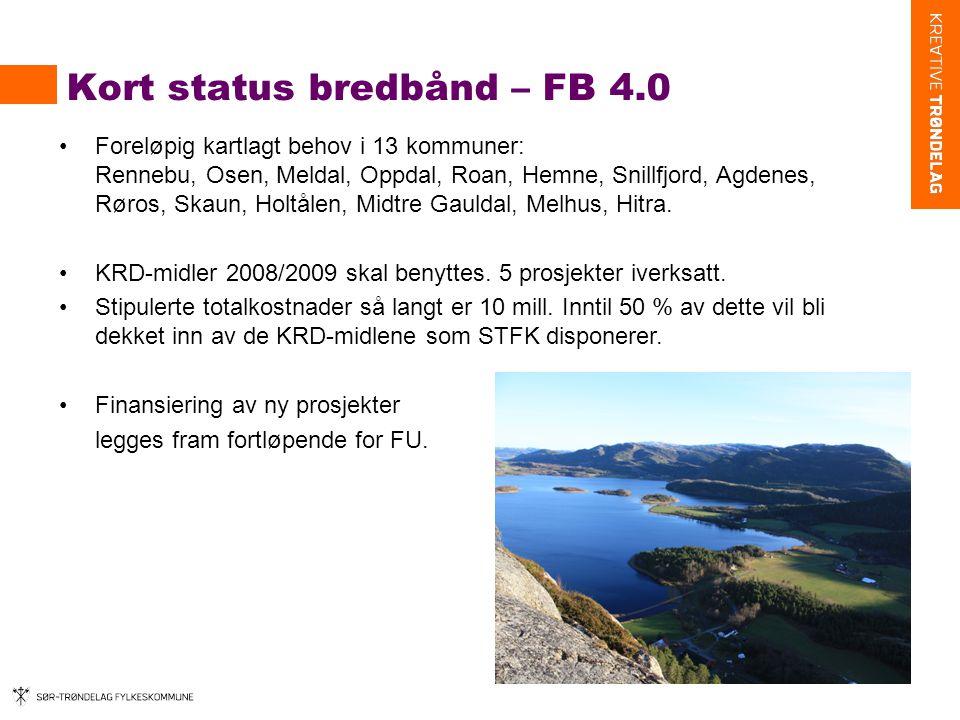 Kort status bredbånd – FB 4.0