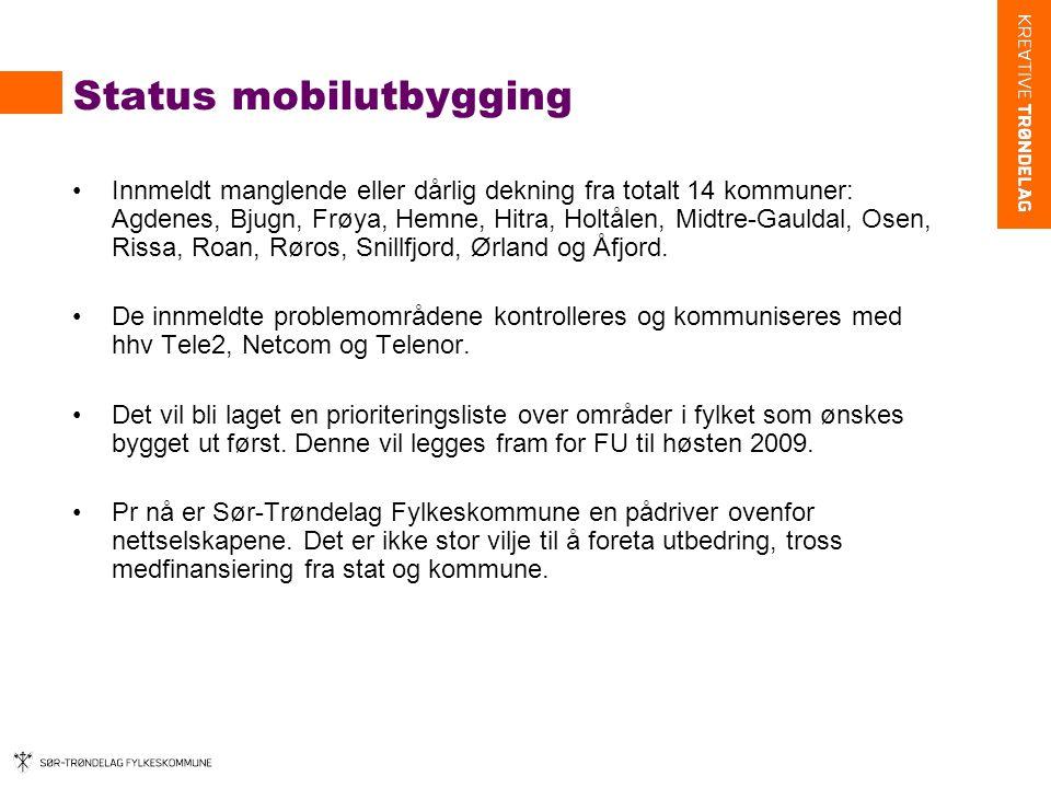Status mobilutbygging