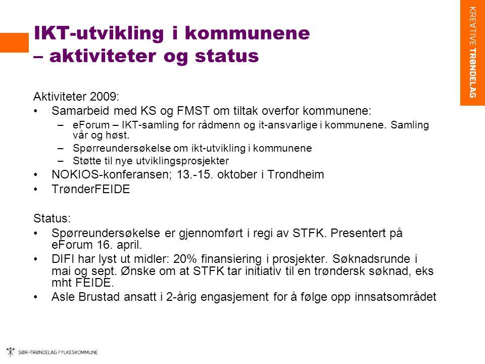 IKT-utvikling i kommunene – aktiviteter og status