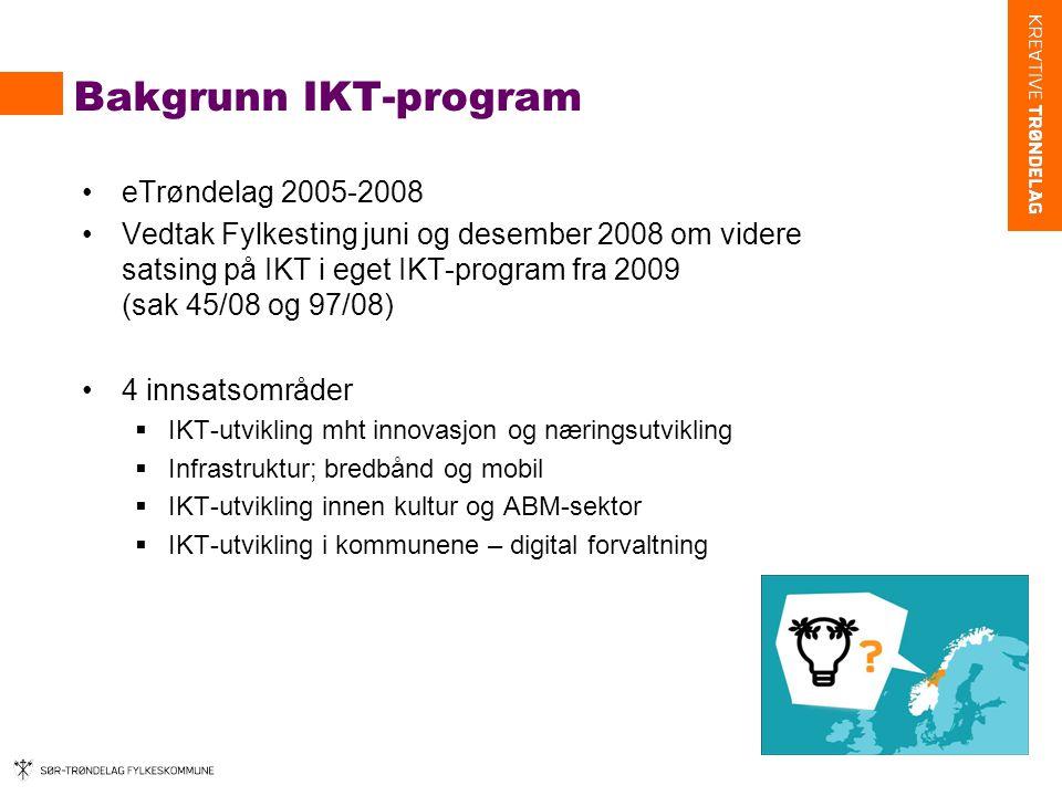 Bakgrunn IKT-program eTrøndelag 2005-2008