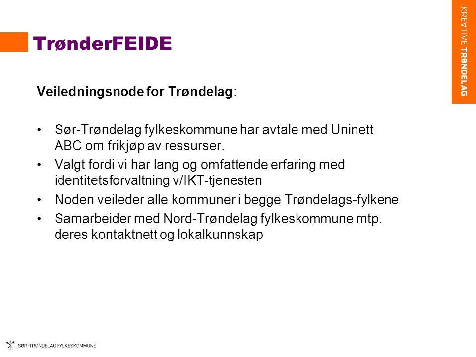 TrønderFEIDE Veiledningsnode for Trøndelag: