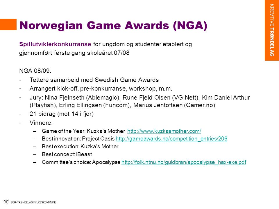 Norwegian Game Awards (NGA)
