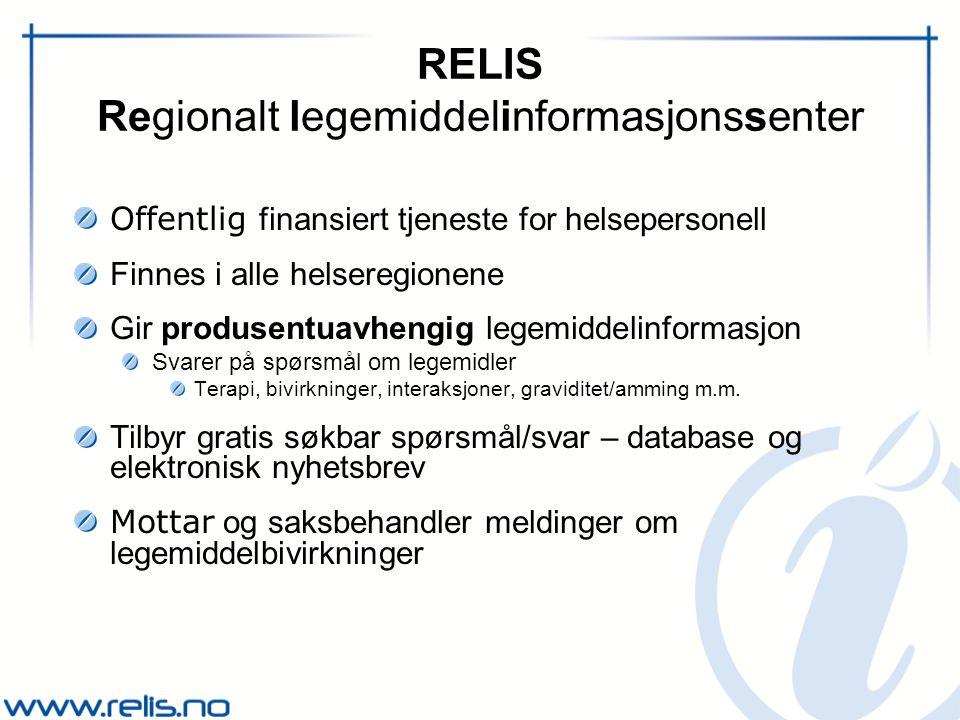 RELIS Regionalt legemiddelinformasjonssenter