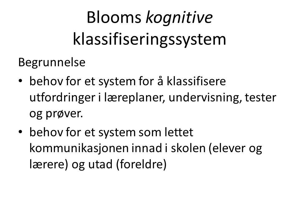 Blooms kognitive klassifiseringssystem