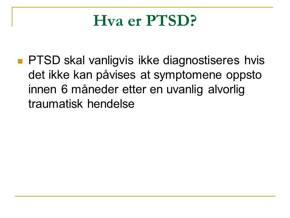 Hva er PTSD
