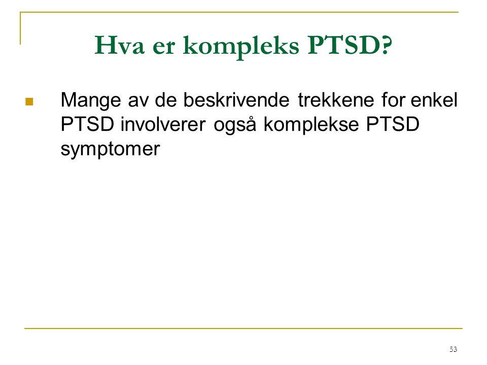 Hva er kompleks PTSD.