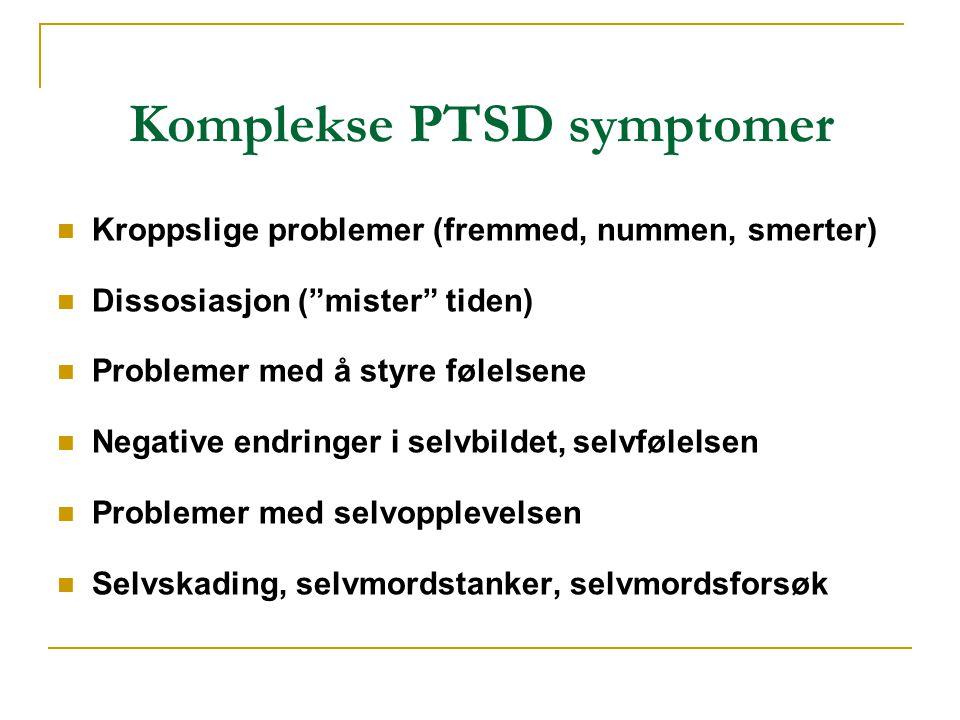 Komplekse PTSD symptomer