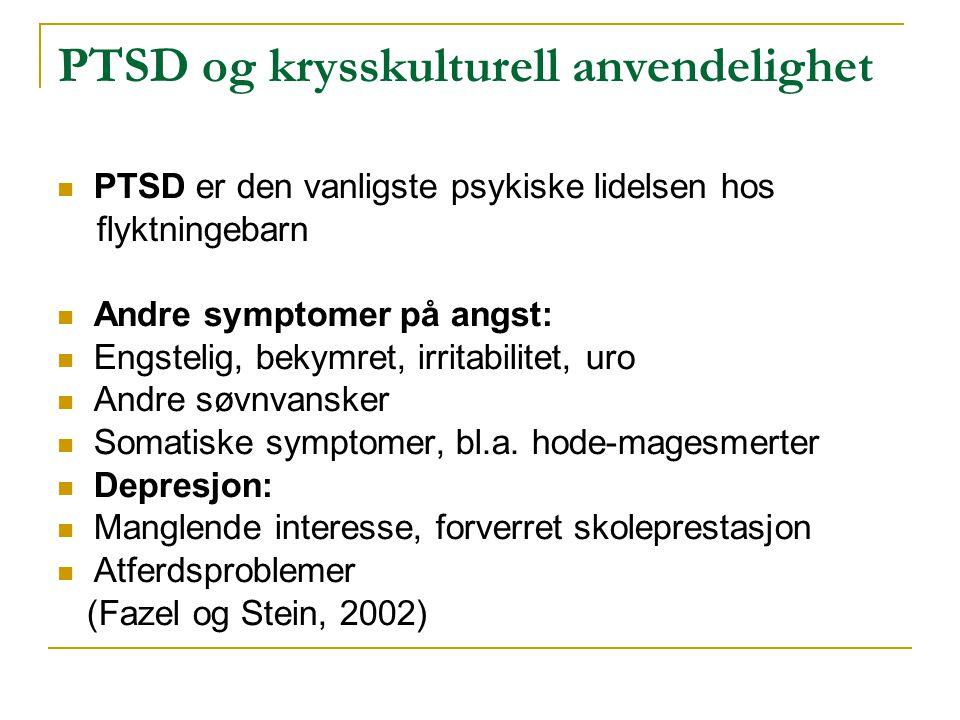 PTSD og krysskulturell anvendelighet