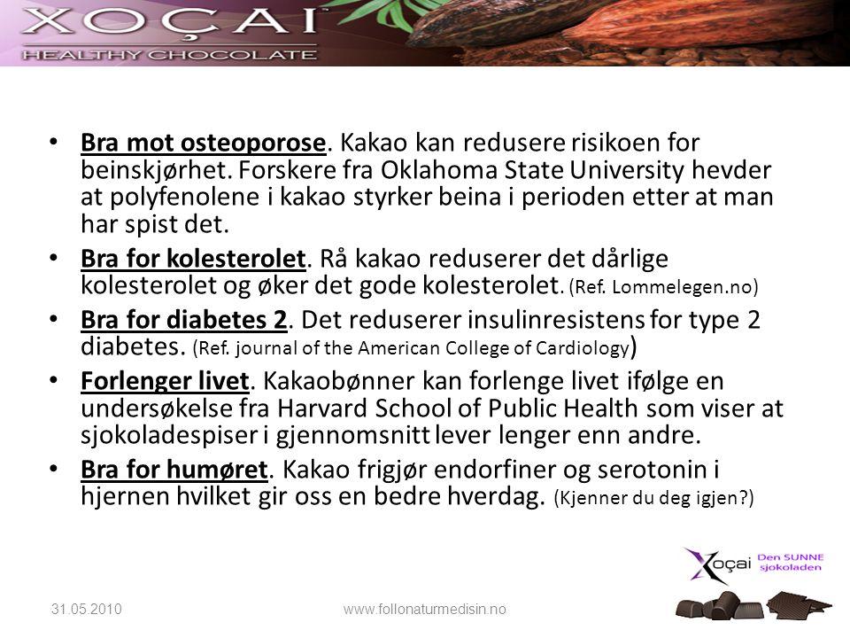 Bra mot osteoporose. Kakao kan redusere risikoen for beinskjørhet