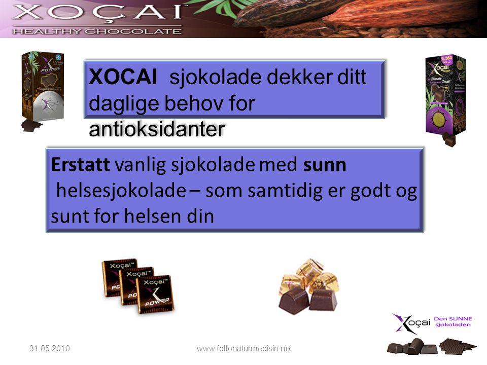 XOCAI sjokolade dekker ditt daglige behov for antioksidanter