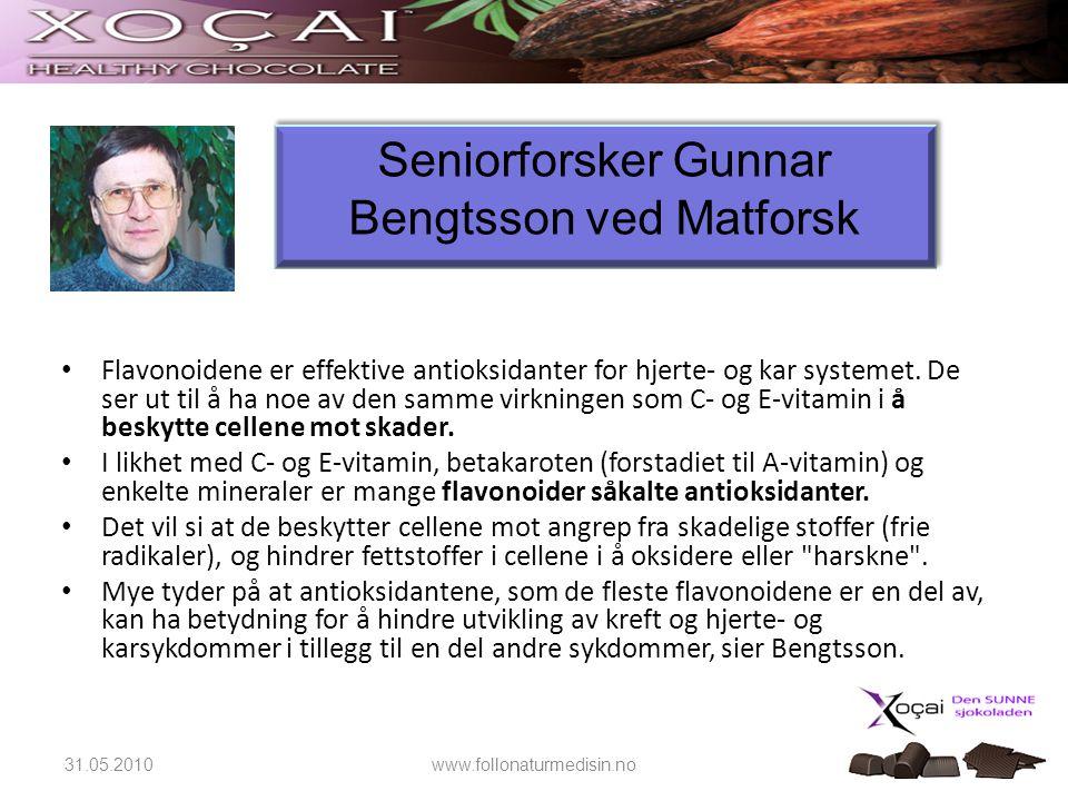 Seniorforsker Gunnar Bengtsson ved Matforsk