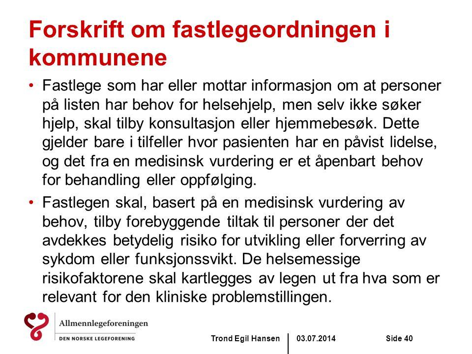 Forskrift om fastlegeordningen i kommunene