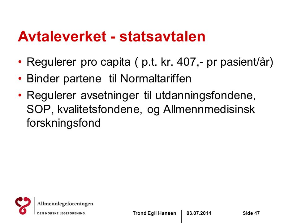 Avtaleverket - statsavtalen