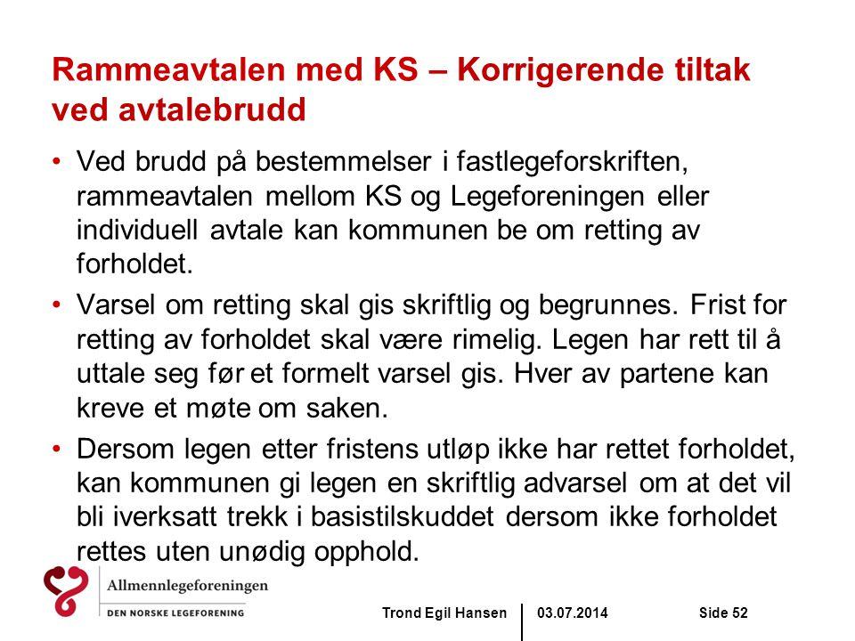 Rammeavtalen med KS – Korrigerende tiltak ved avtalebrudd