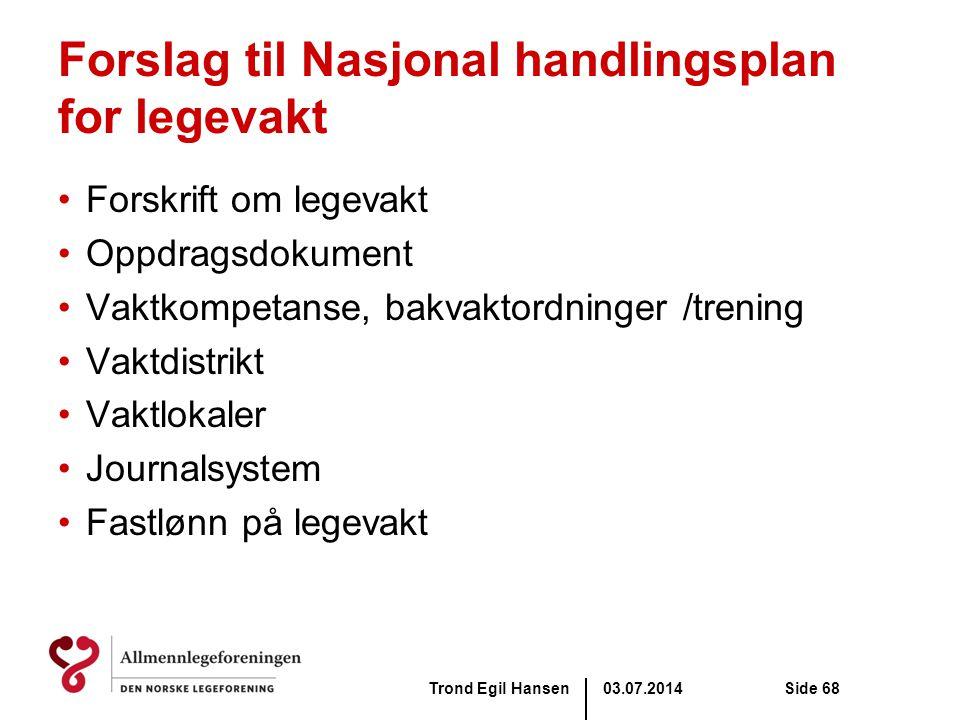 Forslag til Nasjonal handlingsplan for legevakt
