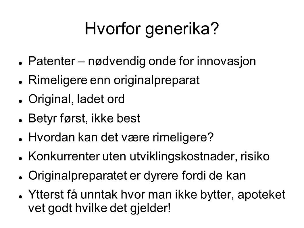 Hvorfor generika Patenter – nødvendig onde for innovasjon