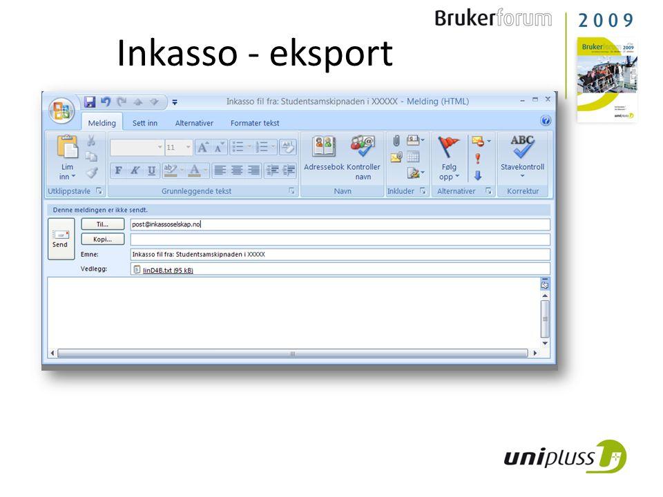 Inkasso - eksport