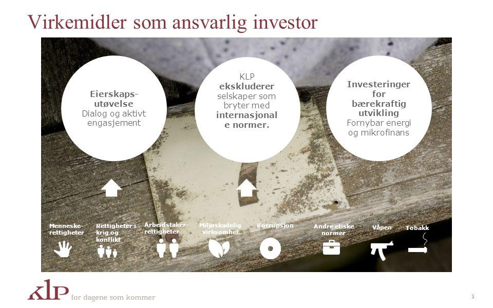 Virkemidler som ansvarlig investor