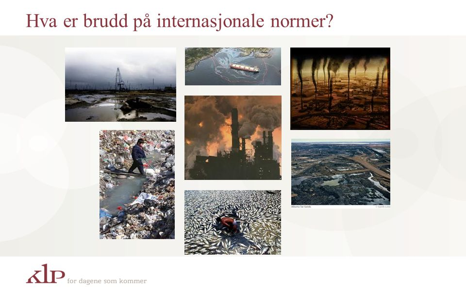 Hva er brudd på internasjonale normer