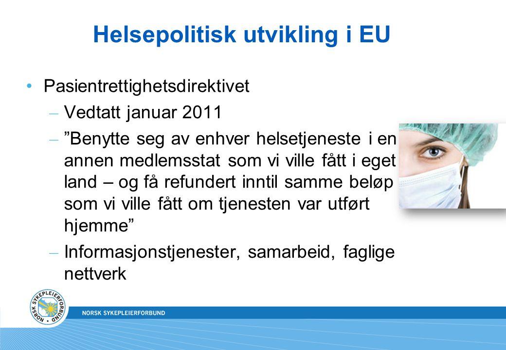 Helsepolitisk utvikling i EU