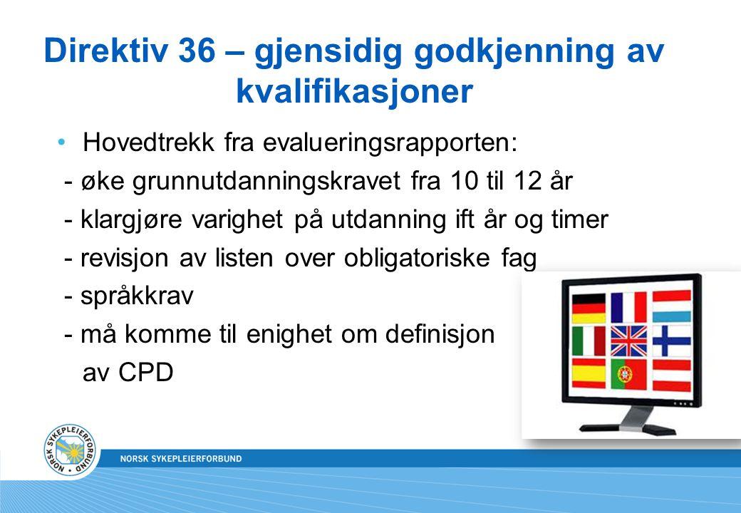 Direktiv 36 – gjensidig godkjenning av kvalifikasjoner