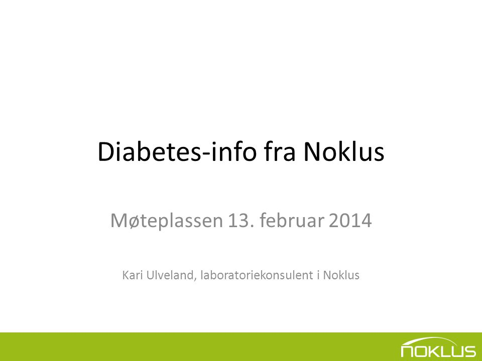 Diabetes-info fra Noklus