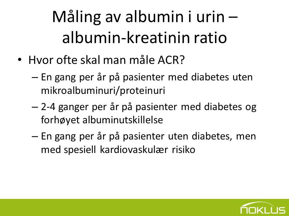 Måling av albumin i urin – albumin-kreatinin ratio